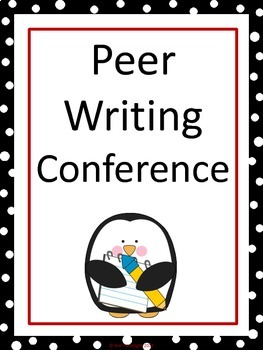 Peer Writing Conference Interactive Bulletin Board Penguin Theme