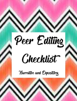 Peer Writing Checklist for both Narrative and Expository