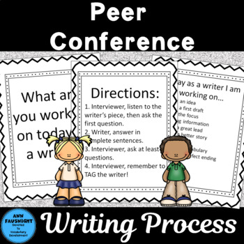Peer Writing Conference Interactive Bulletin Board Black Frame