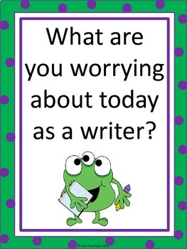Peer Writing Conference Interactive Bulletin Board Monster Theme