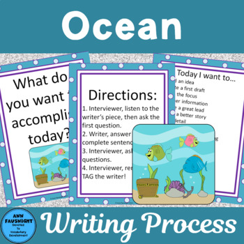 Peer Writing Conference Interactive Bulletin Board Ocean Theme