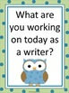 Peer Writing Conference Interactive Bulletin Board Owl Theme