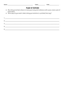 Peer Writing Conference Guide -- Narrative Writing -- Common Core Aligned!