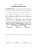 Peer Writing Evaluations