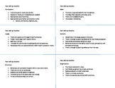 Peer editing checklist