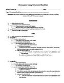 Peer editing persuasive essay checklist