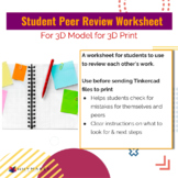 Student Peer review worksheet for Tinkercad file