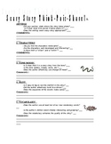 Peer-revision checklist for scary stories