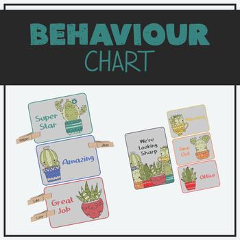 Peg Behaviour Chart - Cactus Theme