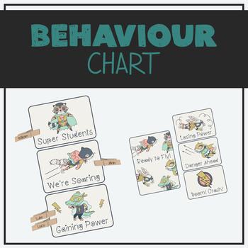 Peg Behaviour Chart - Superhero Animals Theme