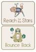 Peg Behaviour Chart - Yoga Animals Theme