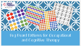 Peg Board Templates for Occupational and/or Cognitive Therapy