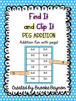 Find It and Clip - Addition and Subtraction BUNDLE