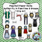 Peg Doll Clip Art: Authority in Families and Groups
