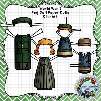 Peg Doll Paper Doll Clip Art: World War I