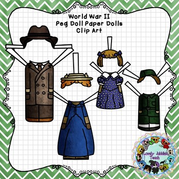 Peg Doll Paper Doll Clip Art: World War II