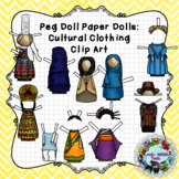 Peg Doll Paper Dolls: Cultural Clothing