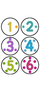 Peg Dot Number Cards 1 - 10