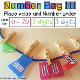 Peg it! Number and Place Value Activity