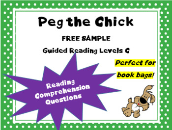 """""""Peg the Chick and the Balloon"""" text questions from """"Tug the Pup"""" Book series"""