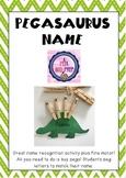 NAME Editable Pegasaurus Name Activity
