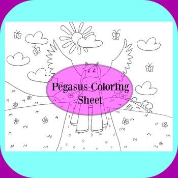 Pegasus Coloring Sheet