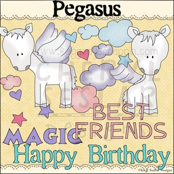 Pegasus Clip Art personal & commercial use C Seslar