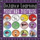 Pegatinas   Digital Stickers for Día de los Muertos   Dist