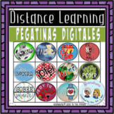 Pegatinas Digital Stickers for Secondary Spanish Learners