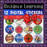 Pegatinas Digitales de Navidad   Janucá   Kwanzaa   Distan