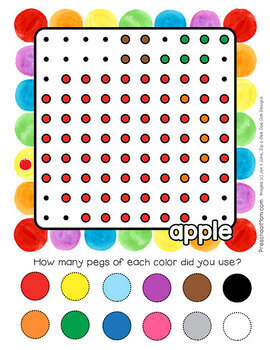 Pegboard FALL Activity Pack: Learning Mats, Task Cards, Worksheets & More!