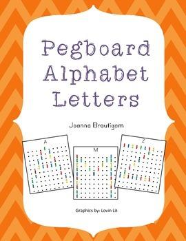 Word Work Pegboard Alphabet Cards