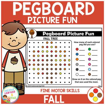Pegboard Picture Fun: Fall