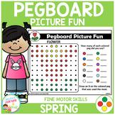 Pegboard Picture Fun: Spring