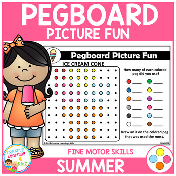 Pegboard Picture Fun: Summer