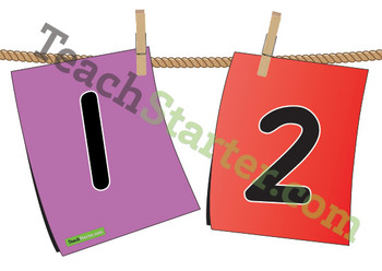 Pegged Number Line – 1-30