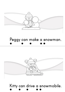 Peggy And Kitty Love Winter Easy Reader Winter Emergent Reader