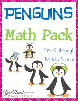 Peguins Math Pack (PreK through Middle School)