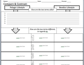 Pelagic Life v. Benthic Life: Collaborative Pair Concept Map