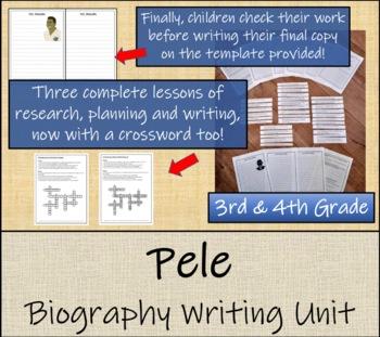Pele - 3rd Grade & 4th Grade Biography Writing Activity