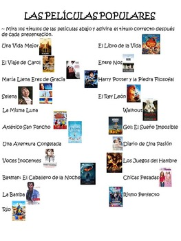Peliculas Populares Spanish Interactive Movie Game - Best Seller