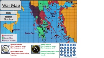 Peloponnesian War Strategy Game and Timeline