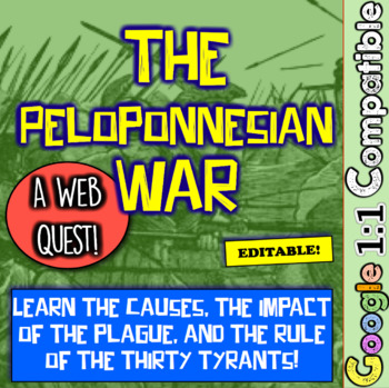 Peloponnesian War Web Quest! Athens, Sparta, the Thirty Tyrants, and More!