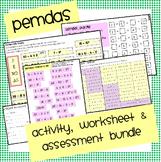 Pemdas Activity & Assessment Bundle
