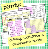 Pemdas Activity & Assessment Bundle