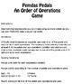 Order of Operations Pemdas Game