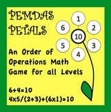 Order of Operations Pemdas Game
