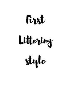 Pen Brush lettering practice workbook | 4 Style pen brush lettering