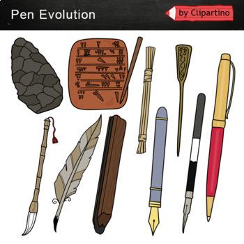 Pen Evolution-Clipart FREE