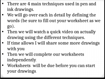 Pen & Ink Technique Presentation